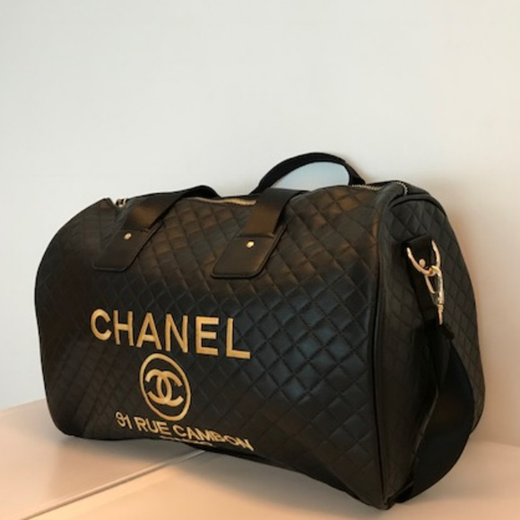 c8b27eb331899e C H A N E L Handbags - Chanel Travel Bag Duffle Gym Bag VIP gift Bag New